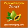 Papaya Enzyme Toner by Secret of Aging