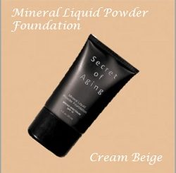 Cream Beige Mineral Liquid Powder Foundation by Secret of Aging