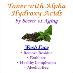 Toner with Alpha Hydroxy Acids Wash Face